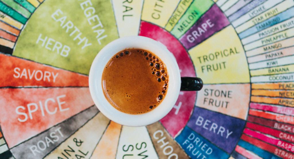 aroma rad für die kaffee verkostung