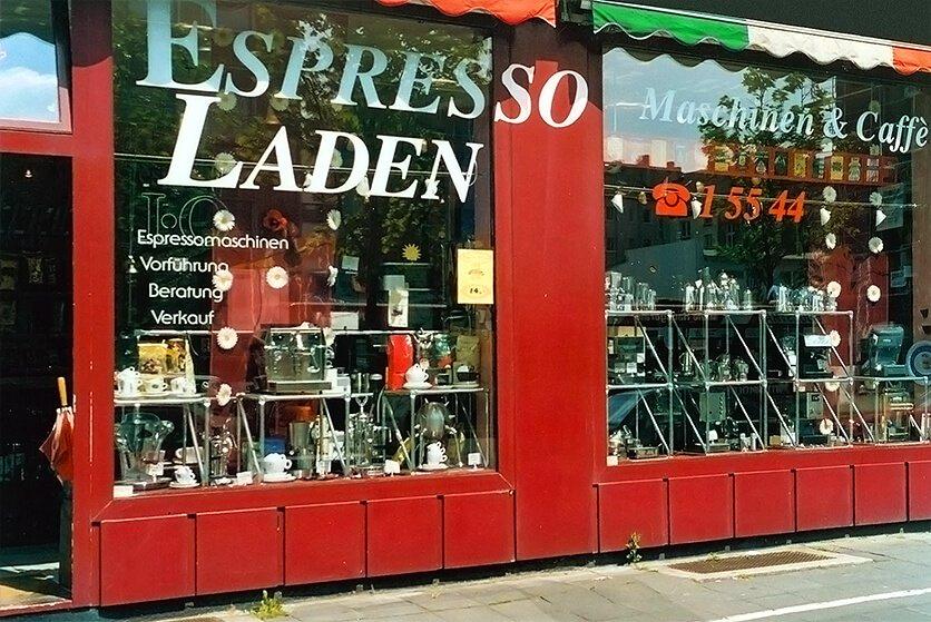 Das alte Ladenlokal – hier konnte nur offline Kaffee kaufen