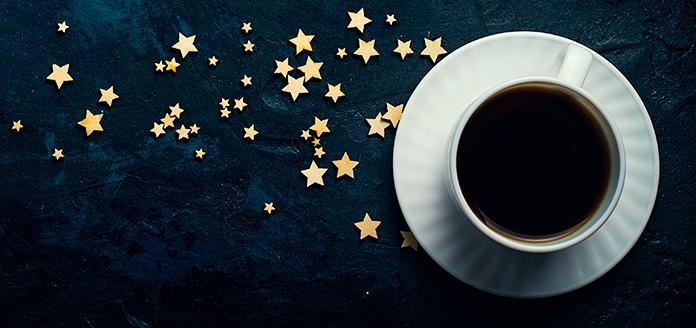 kaffeetasse mit sternen