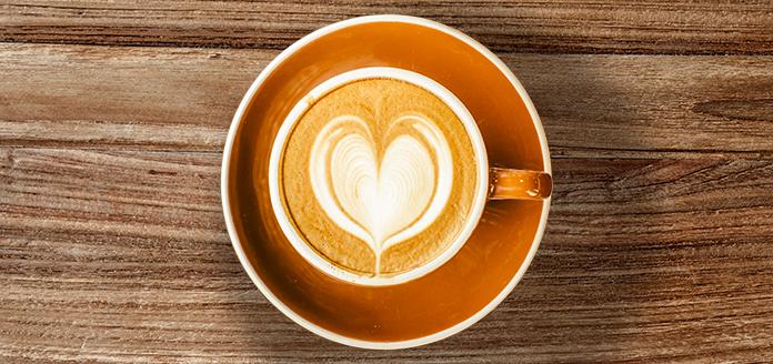 latte art klassiker für barista - das herz