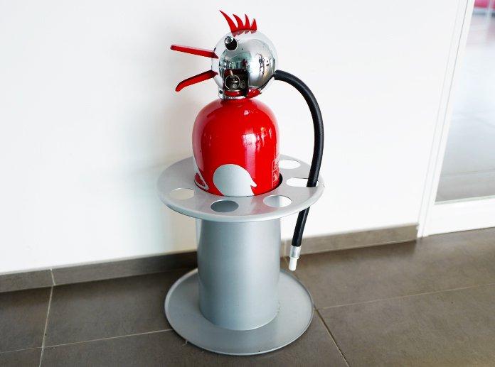 Feuerlöscher beim Röster Caffè Moak