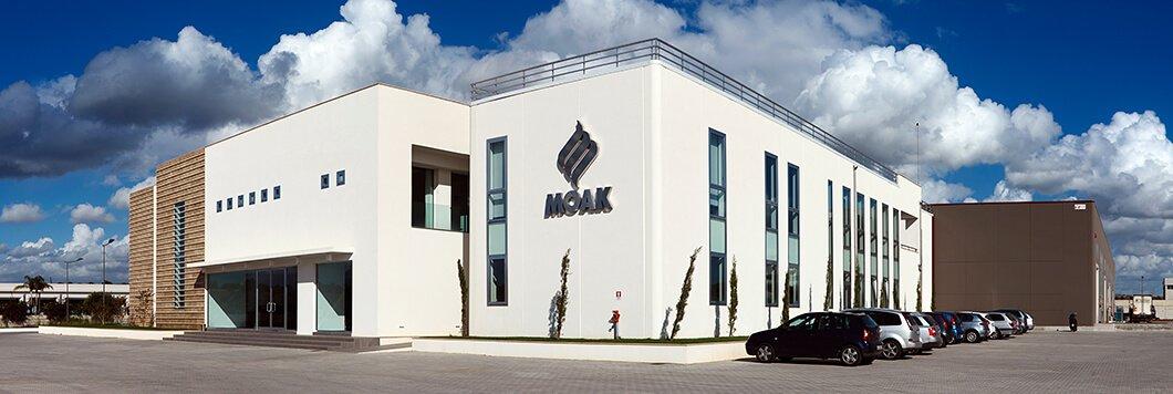 Das Firmengebäude von Caffè Moak