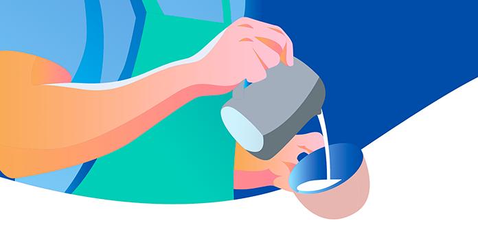 techniken von latte art