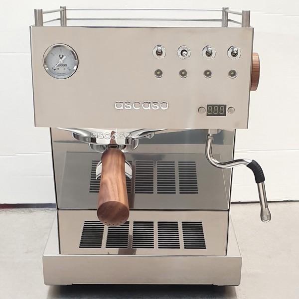 Ascaso Steel Uno PID, Espressomaschine inox/Holz *B-WARE*