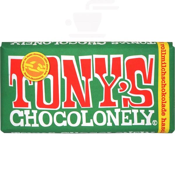 Tony's Haselnuss Vollmilchschokolade 32 %, 180 g