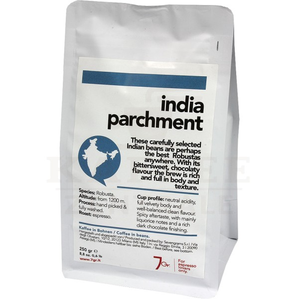 7gr. India Parchment Single Origin, Bohne 250 g