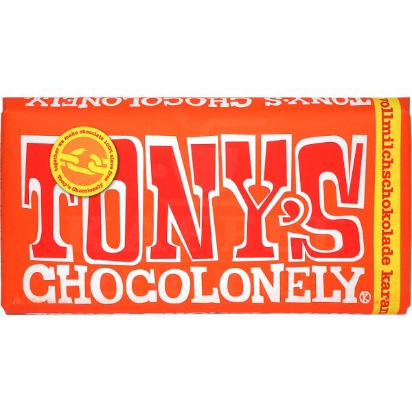 Tony's Karamell Meersalz Vollmilchschokolade 32 %, 180 g