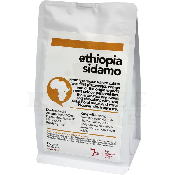 7gr. Ethiopia Sidamo Single Origin, Bohne 250 g