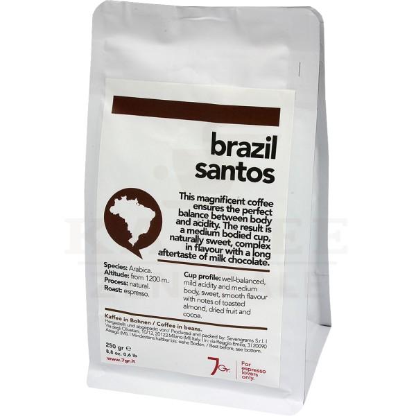 7gr. Brazil Santos Single Origin, Bohne 250 g