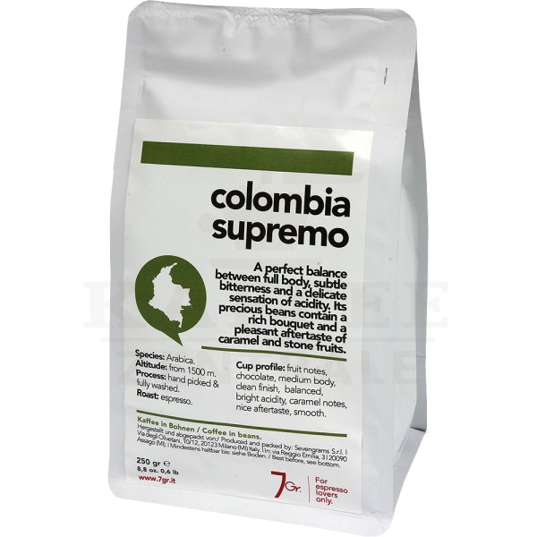 7gr. Colombia Supremo Single Origin, Bohne 250 g