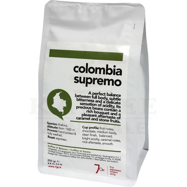 7gr. Colombia Supremo Single Origin, Bohne 250 g