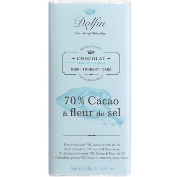 Schokolade 70% Fleur de Sel, 70g
