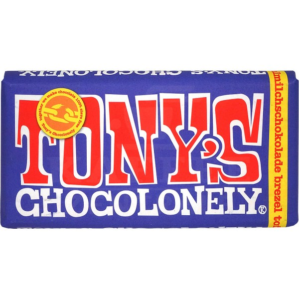 Tony's Brezel Toffee dunkle Vollmilchschokolade 42 %, 180 g