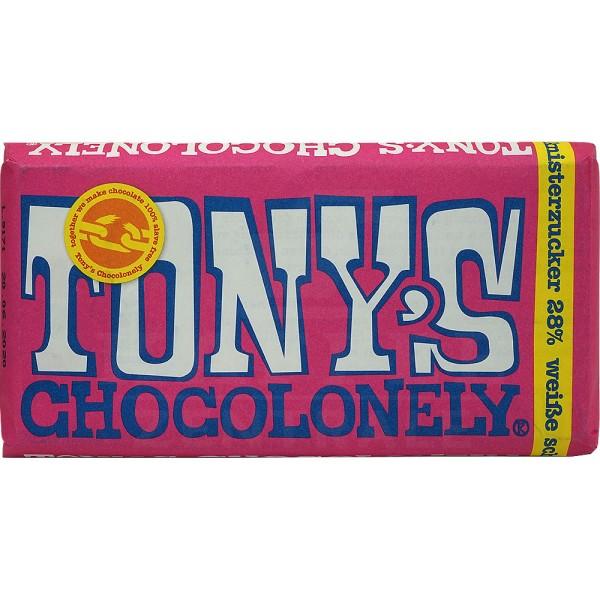 Tony's Weiße Schokolade Himbeere, 180 g