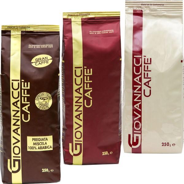 Giovannacci Starterpaket, 3 x 250 g Bohne