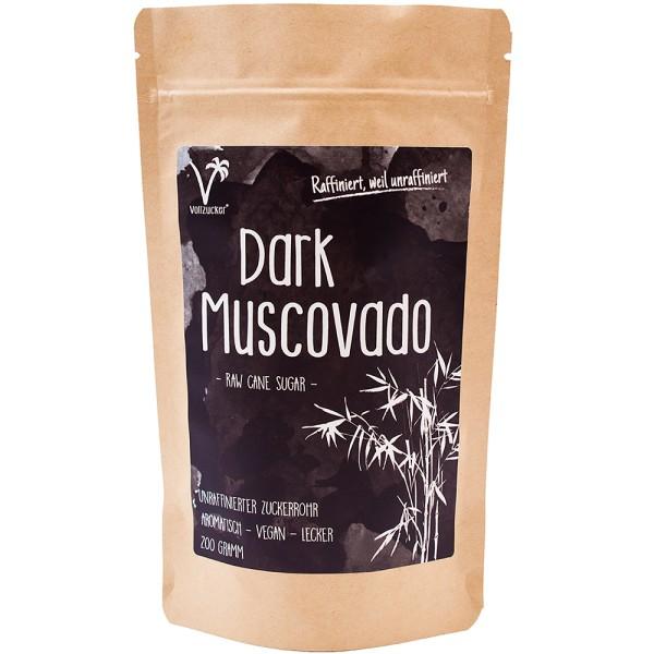 Vollzucker Muscovado Zucker dunkel, 200 g