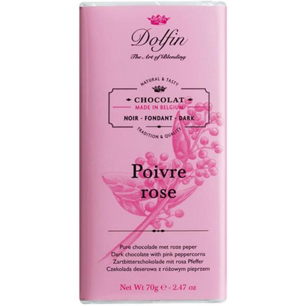 Schokolade 60% mit rosa Pfeffer, 70g
