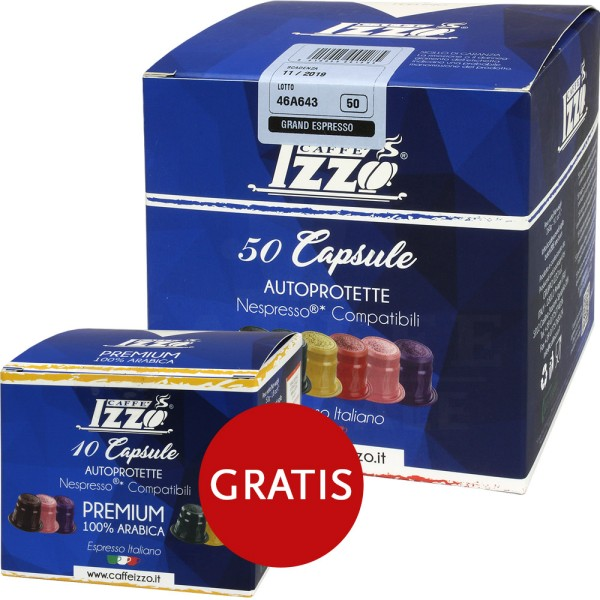 Izzo Grand Espresso, 50 + 10 Kapseln NES